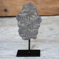 vintage floral block print on iron stand <b>sold<b>